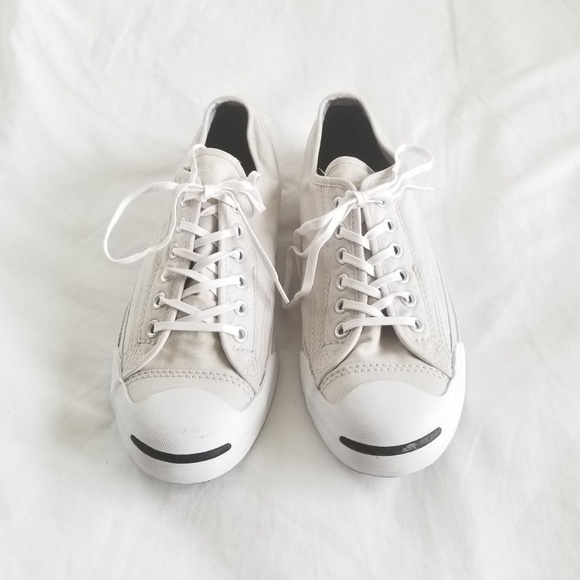 CONVERSE JACK PURCELL   CREAM + WHITE SHOES 2d3187bb9